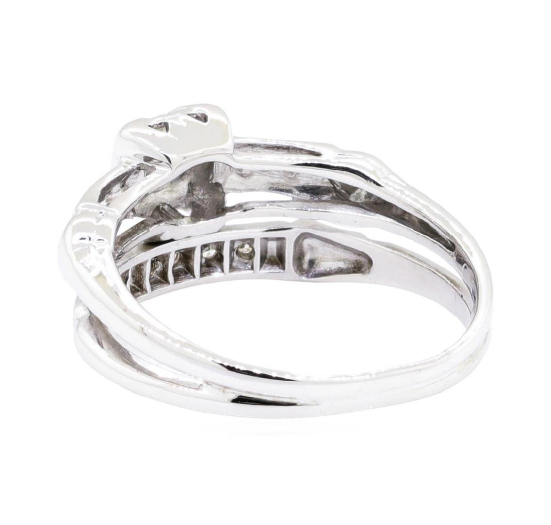 18KT White Gold 0.35 ctw Diamond Ring and Band - 3