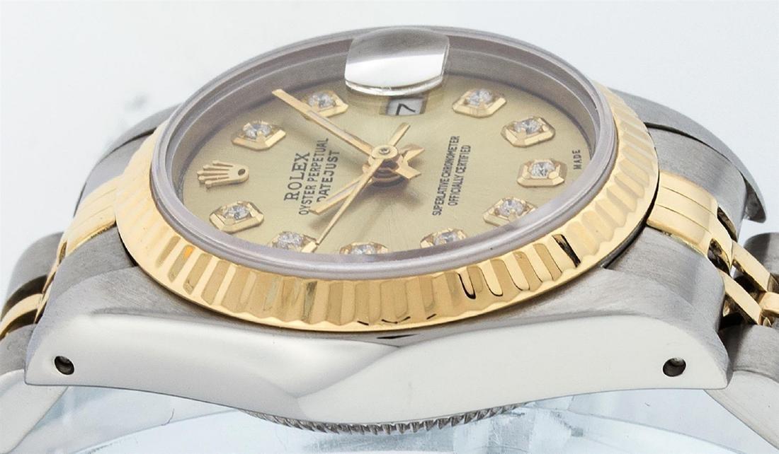 Rolex Ladies Two Tone 14K Champagne Diamond 26MM - 4