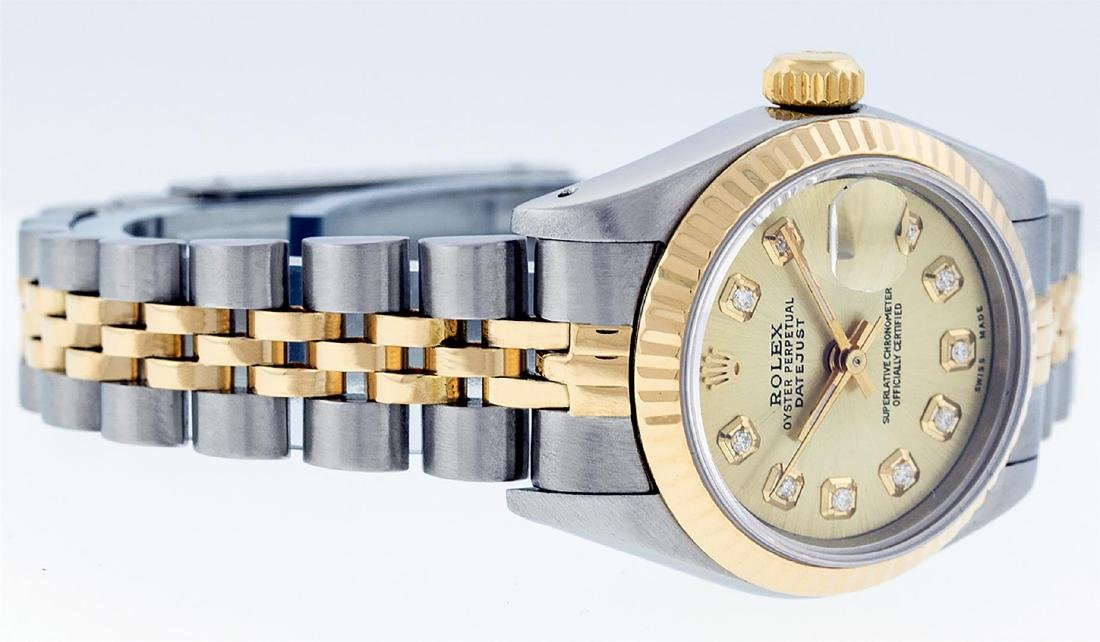 Rolex Ladies Two Tone 14K Champagne Diamond 26MM - 5