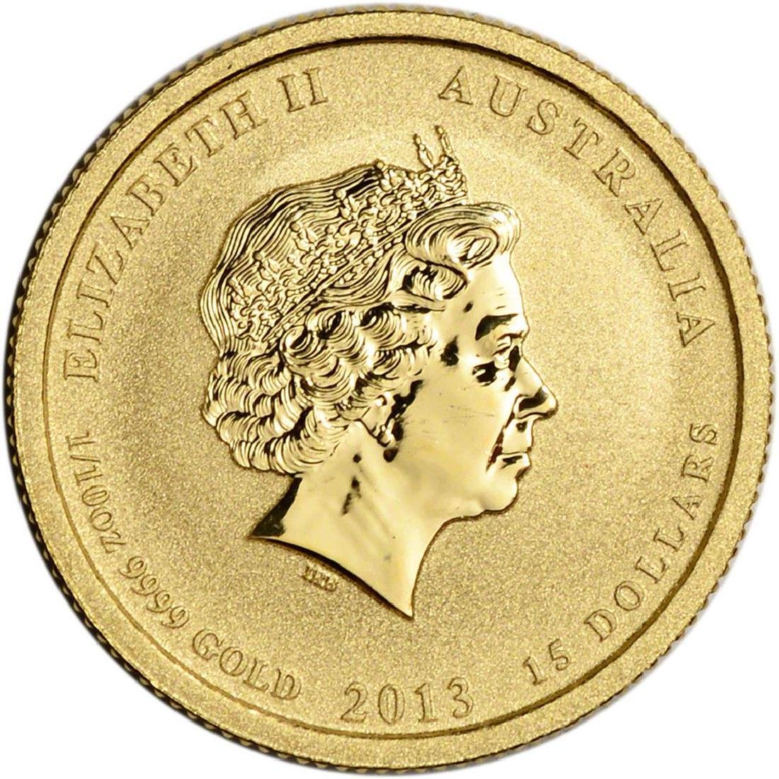 2013 $15 Australia War in the Pacific 1/10 oz Gold Coin - 2