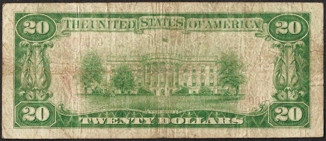 1929 $20 National Currency Note First NB of Seaford, DE - 2