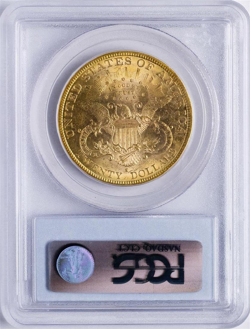1884-S $20 Liberty Head Double Eagle Gold Coin PCGS - 2