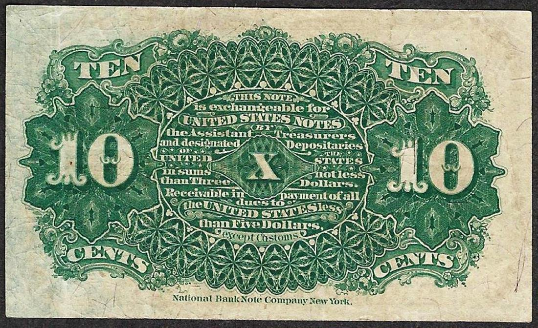 March 3, 1863 10 Cents Fourth Issue Fractional Currency - 2
