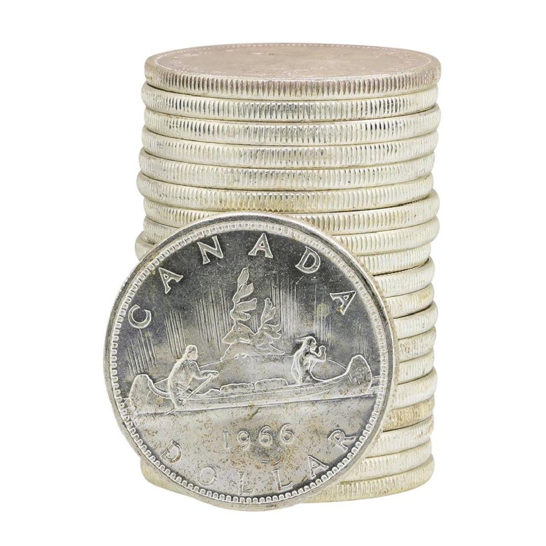 Roll of (20) 1966 Brilliant Uncirculated Canadian - 2