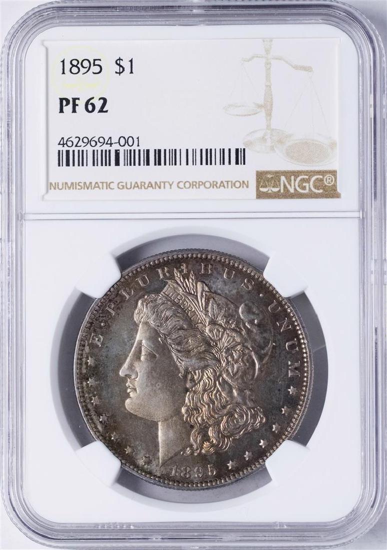 1895 $1 Morgan Silver Dollar Proof Coin NGC PR62