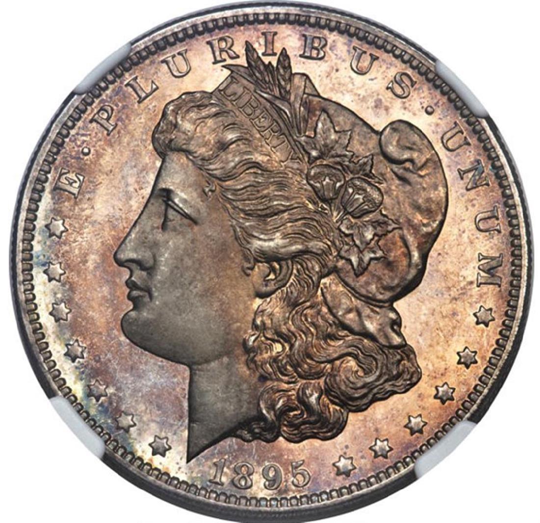 1895 $1 Morgan Silver Dollar Proof Coin NGC PR62 - 3