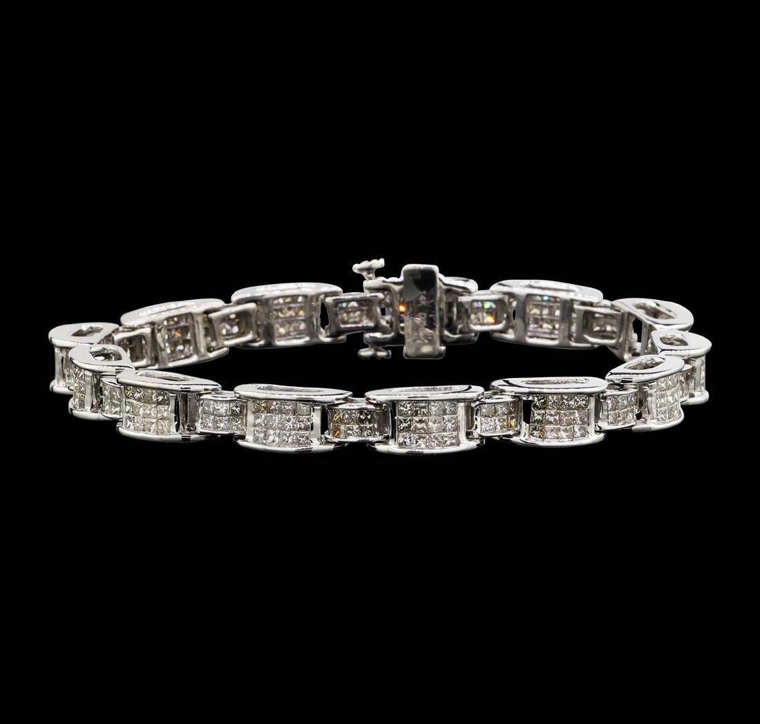 14KT White Gold 6.67 ctw Diamond Bracelet