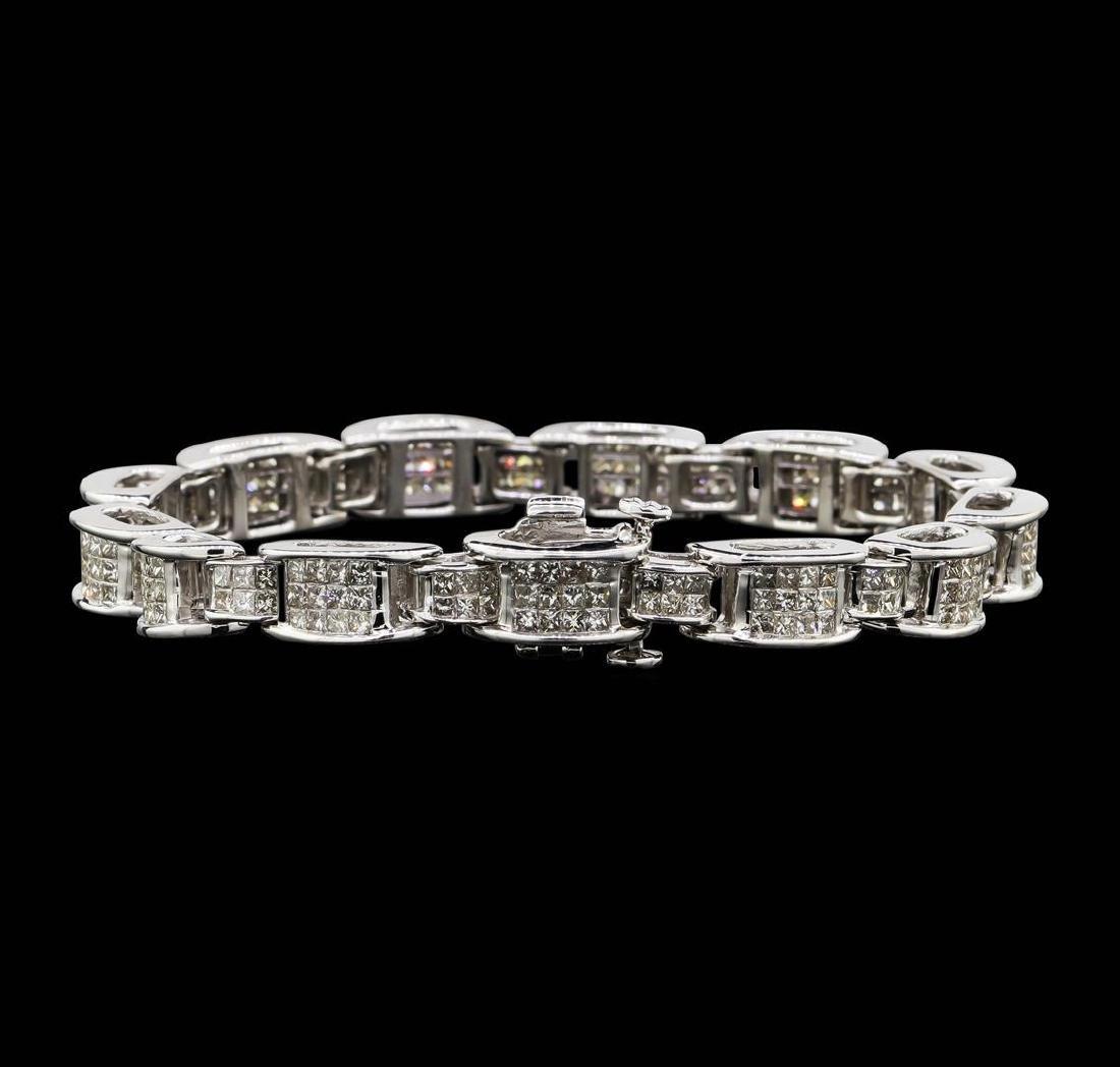 14KT White Gold 6.67 ctw Diamond Bracelet - 2