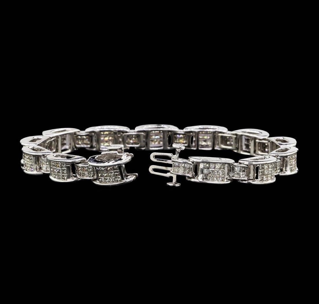 14KT White Gold 6.67 ctw Diamond Bracelet - 3