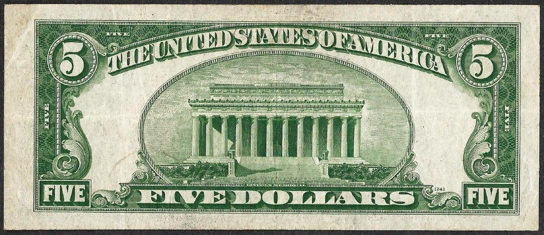 1934A $5 Silver Certificate WWII Emergency North Africa - 2