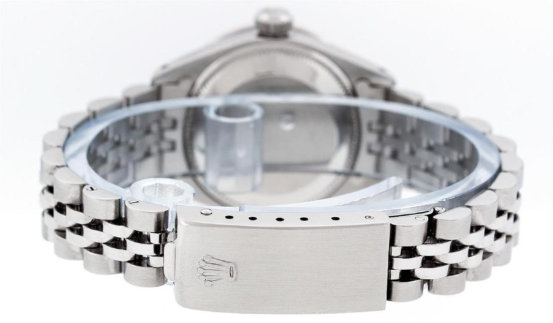 Rolex Ladies Stainless Steel Mother Of Pearl Diamond - 4