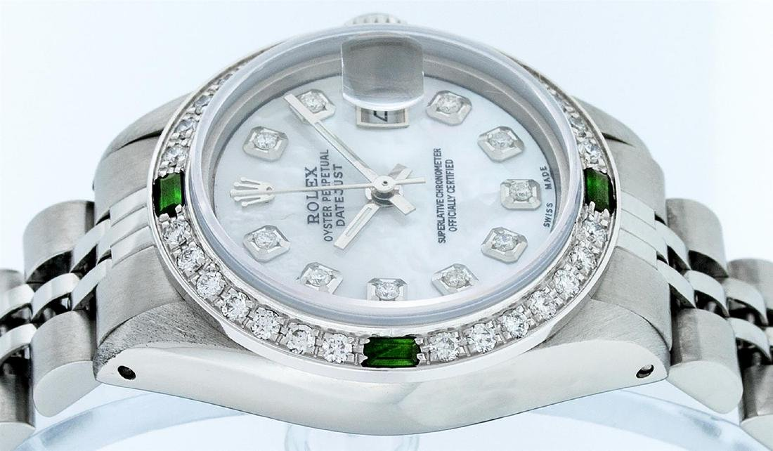 Rolex Ladies Stainless Steel Mother Of Pearl Diamond - 8
