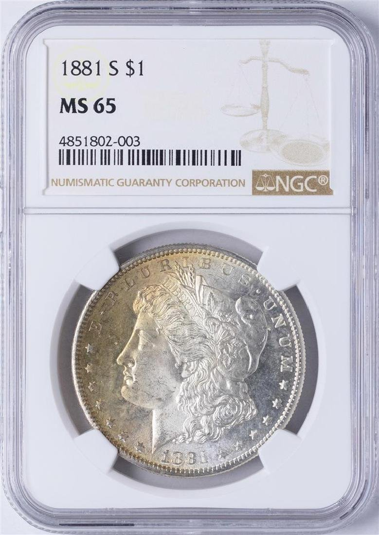 1881-S $1 Morgan Silver Dollar Coin NGC MS65 Amazing