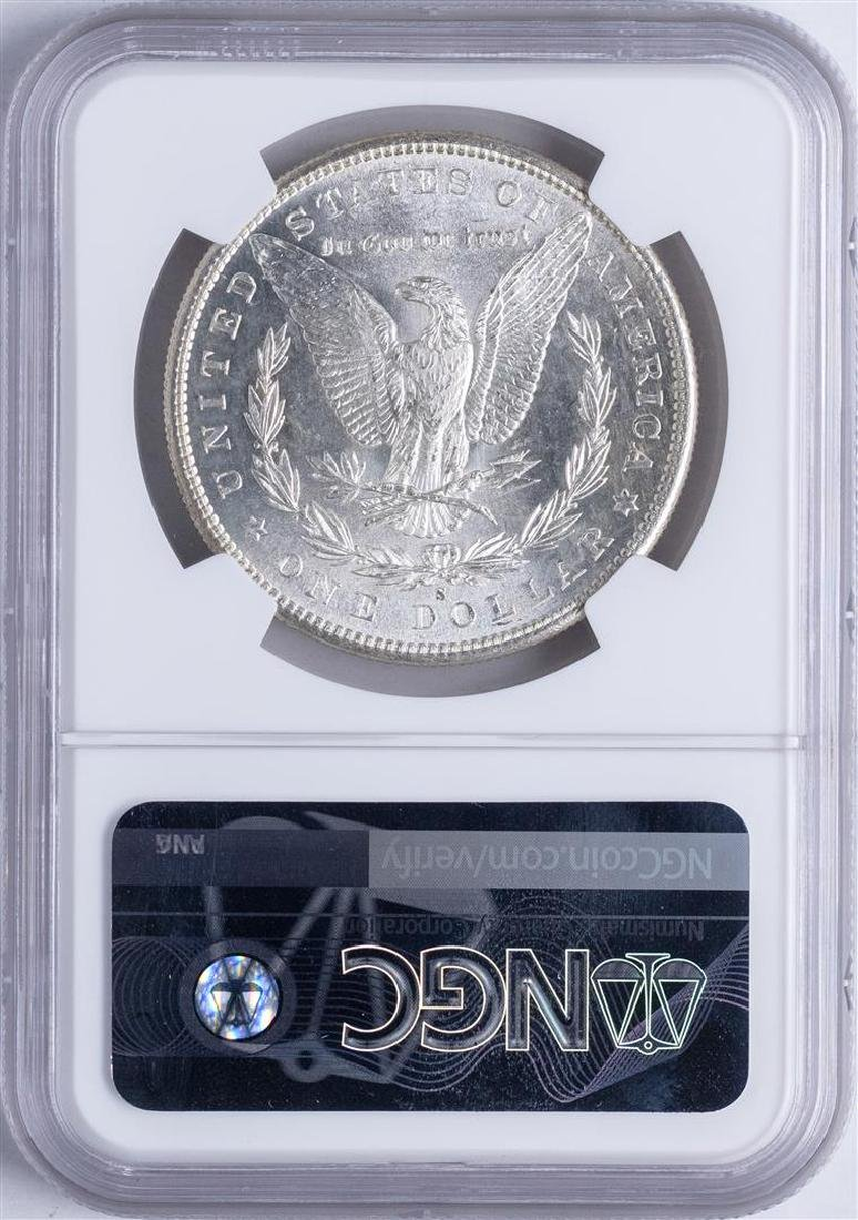 1881-S $1 Morgan Silver Dollar Coin NGC MS65 Amazing - 2