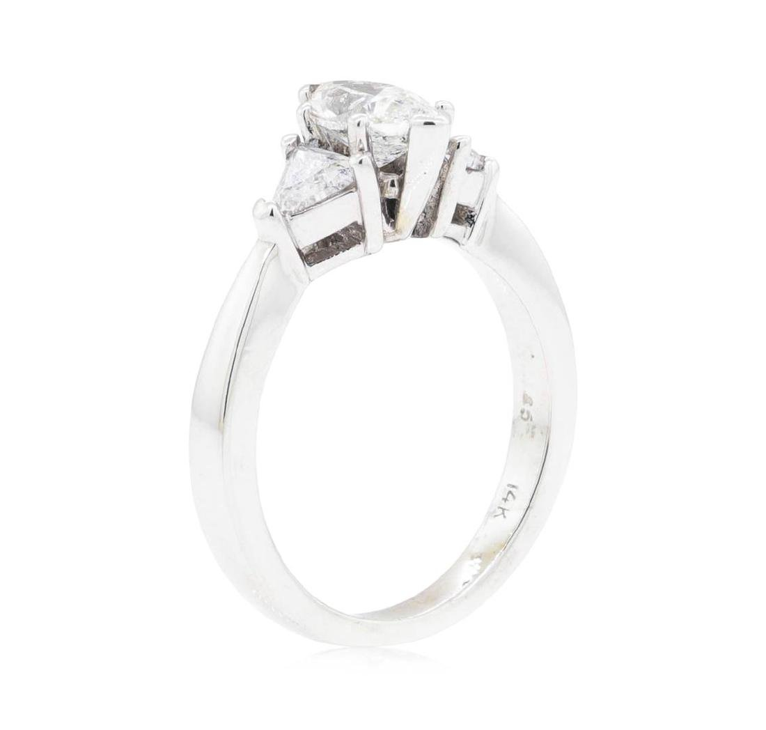14KT White Gold 1.20 ctw Diamond Ring - 4