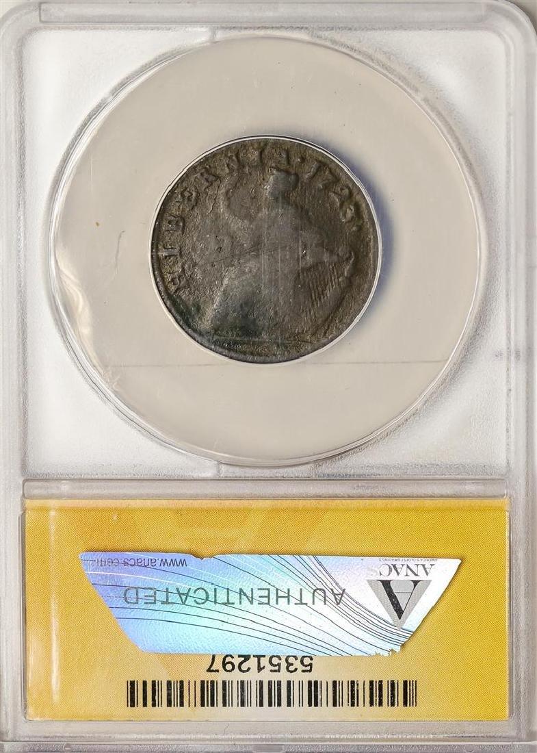 1723 Colonial 1/2 Penny Wood's Hibernia Coinage ANACS - 2