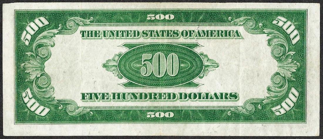 1934 $500 Federal Reserve Note Boston - 2