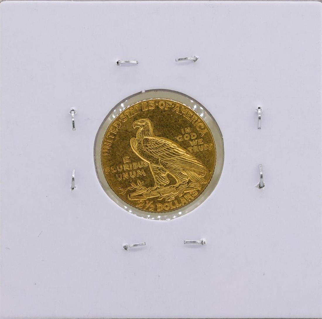 1909 $2 1/2 Indian Head Quarter Eagle Gold Coin - 2
