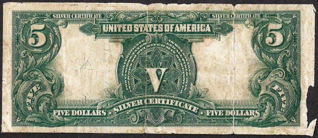 1899 $5 Indian Chief Silver Certificate Note - 2