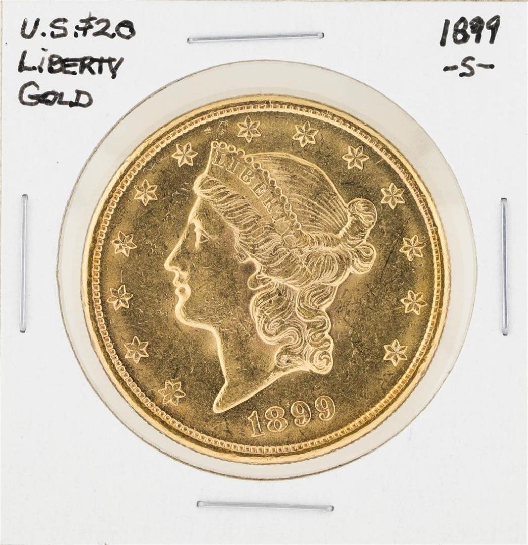 1899-S $20 Liberty Head Double Eagle Gold Coin