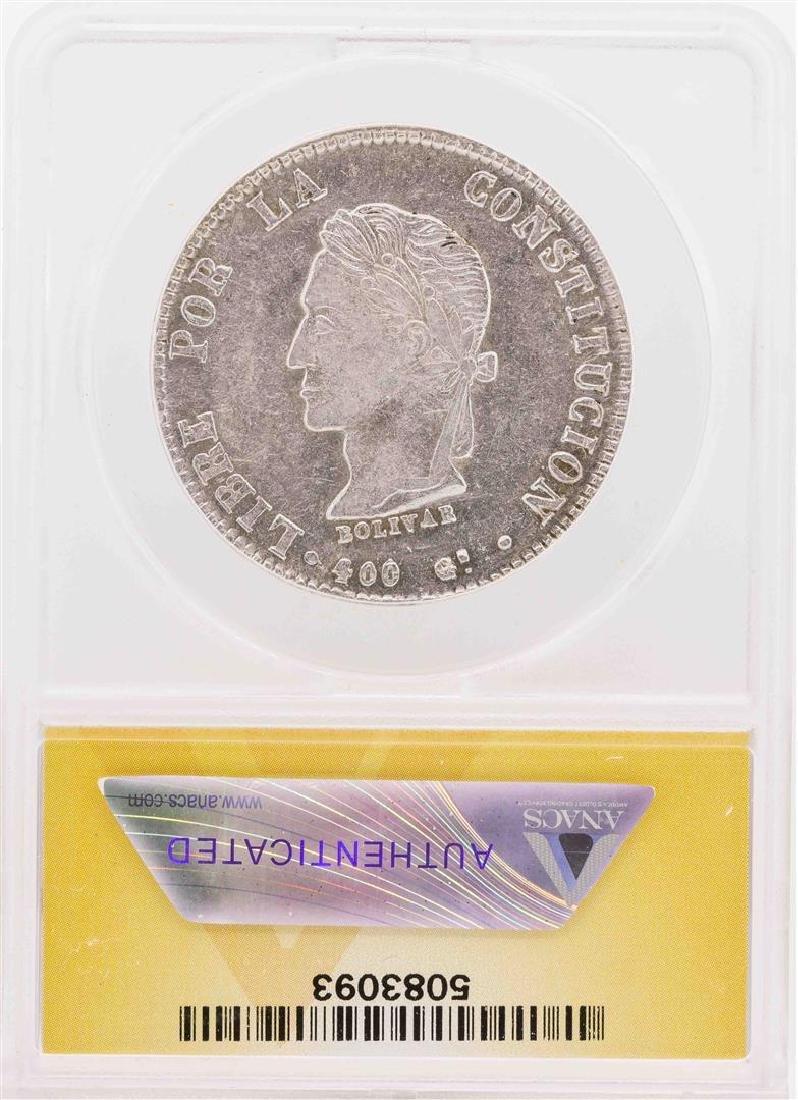 1862-P FP Bolivia AR 8 Soles Silver Coin ANACS XF40 - 2