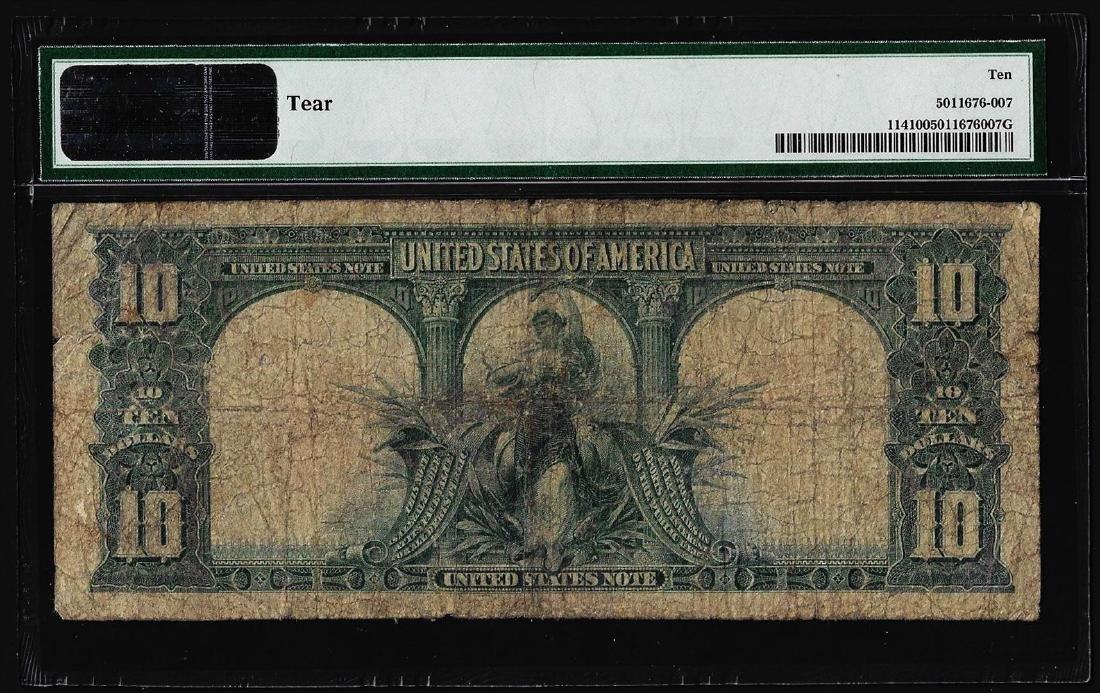 1901 $10 Bison Legal Tender Note Fr.114 PMG Very Good - 2