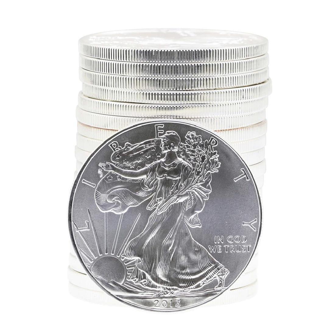 Roll of (20) 2013 $1 American Silver Eagle Brilliant