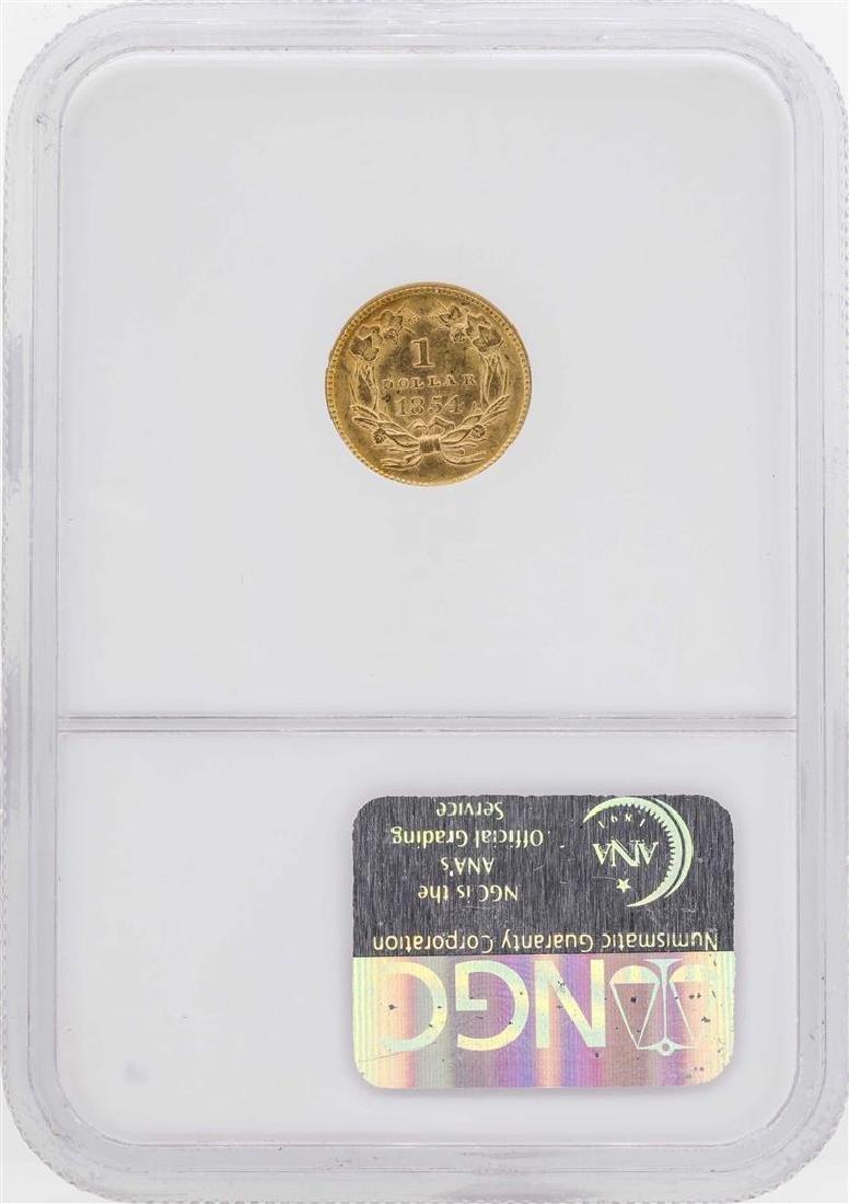 1854 $1 Indian Princess Head Gold Dollar Coin Type 2 - 2