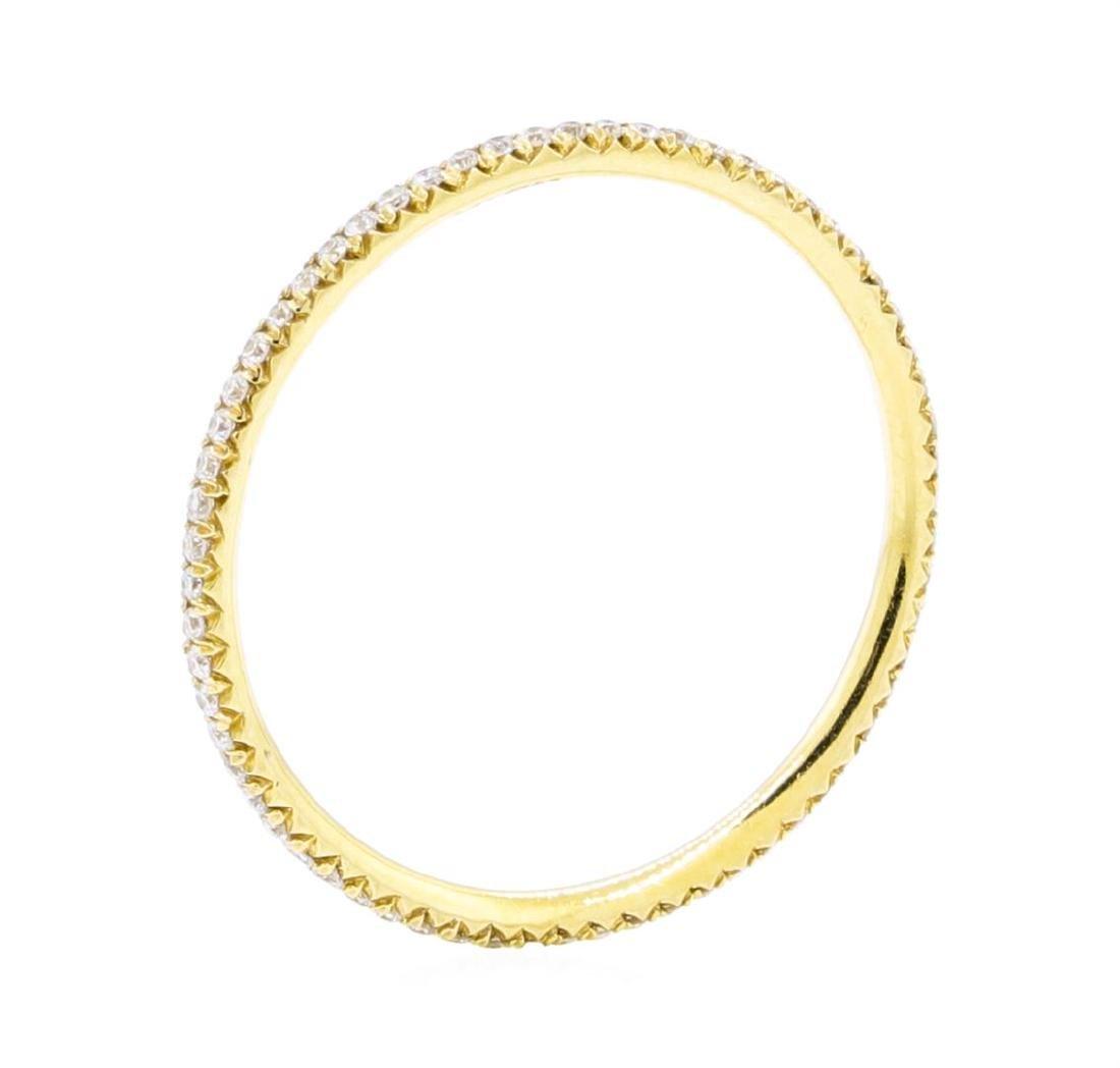 18KT Yellow Gold 0.25 ctw Diamond Eternity Ring - 2
