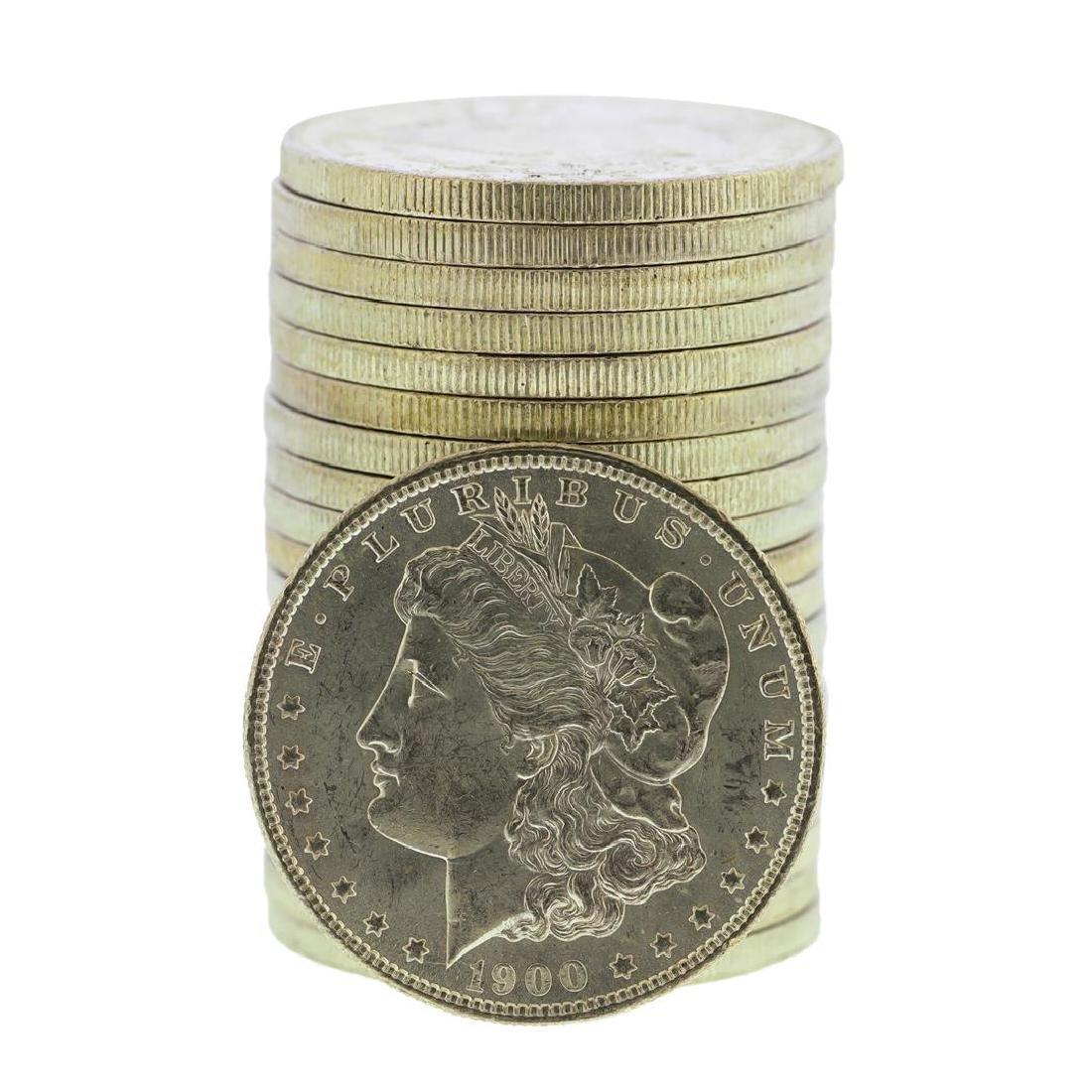 Roll of (20) Brilliant Uncirculated 1900-O $1 Morgan