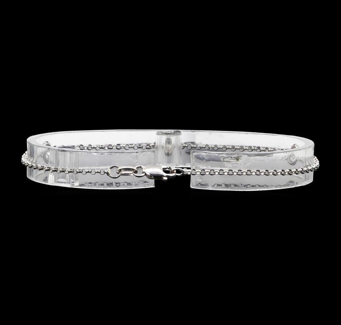 14KT White Gold 0.60 ctw Diamond Bracelet - 2