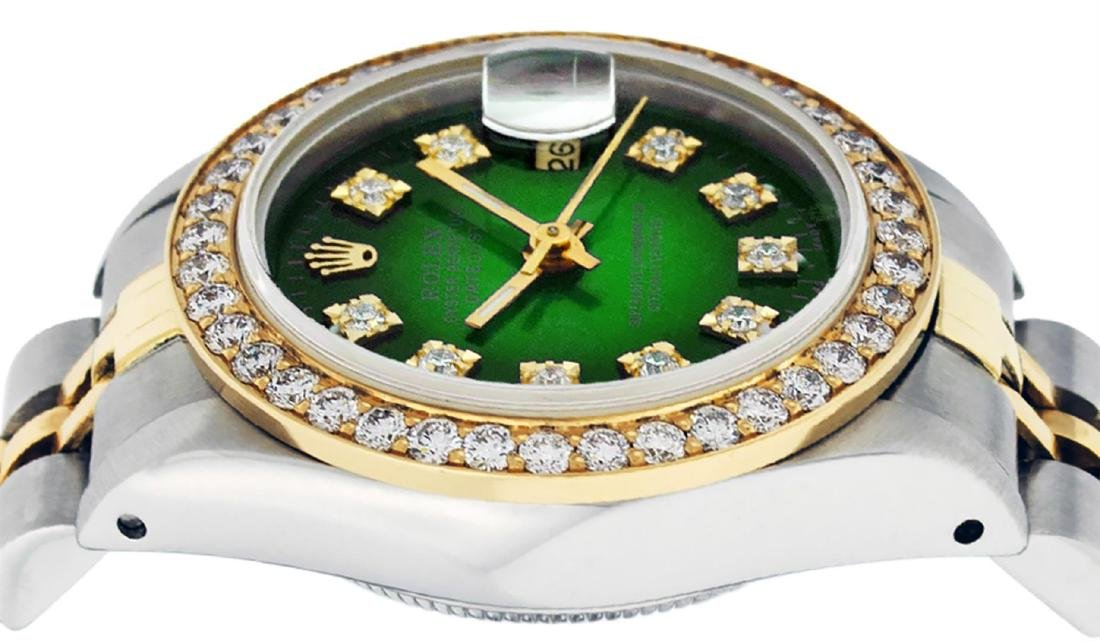 Rolex Ladies Two Tone 14K Green Vignette VS Diamond - 4