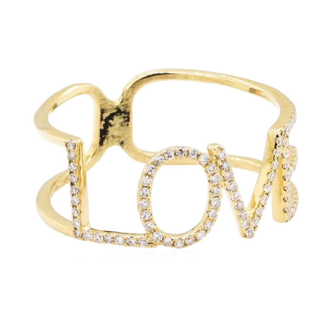 "14KT Yellow Gold ""LOVE"" 0.25 ctw Diamond Ring"