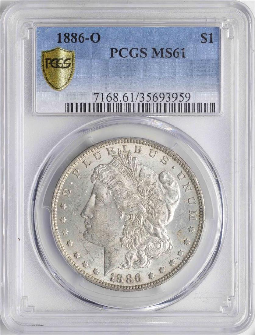 1886-O $1 Morgan Silver Dollar Coin PCGS MS61