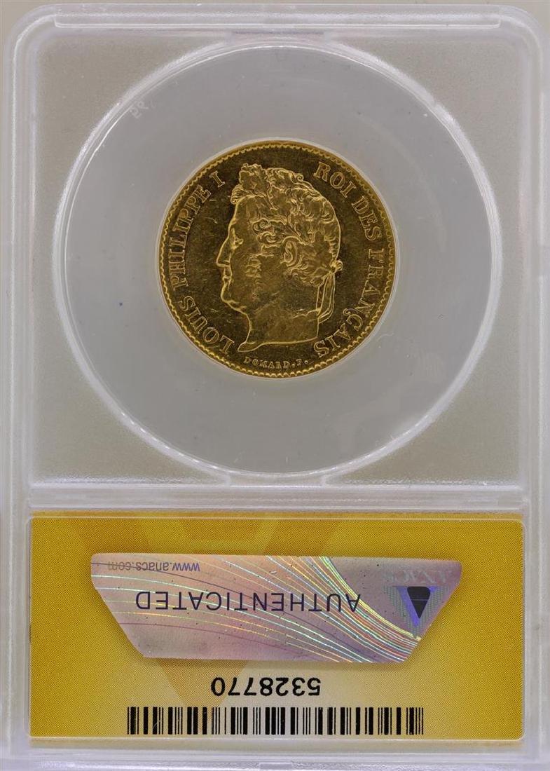 1836-A France 40 Francs Gold Coin ANACS VF35 - 2