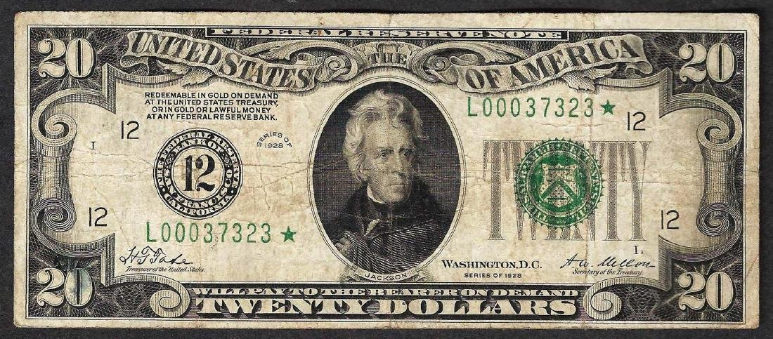 1928 $20 Federal Reserve STAR Note