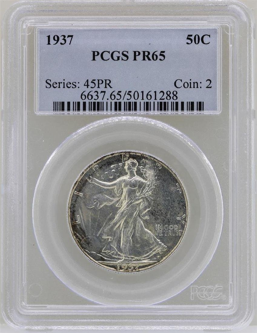 1937 Walking Liberty Half Dollar Proof Coin PCGS PR65