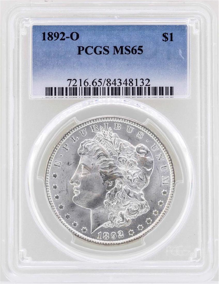 1892-O $1 Morgan Silver Dollar Coin PCGS MS65