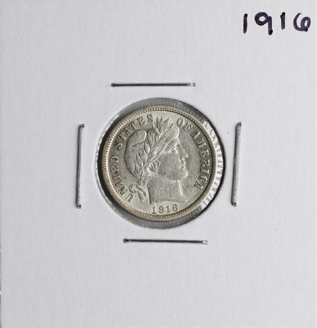 1916 Barber Dime Coin