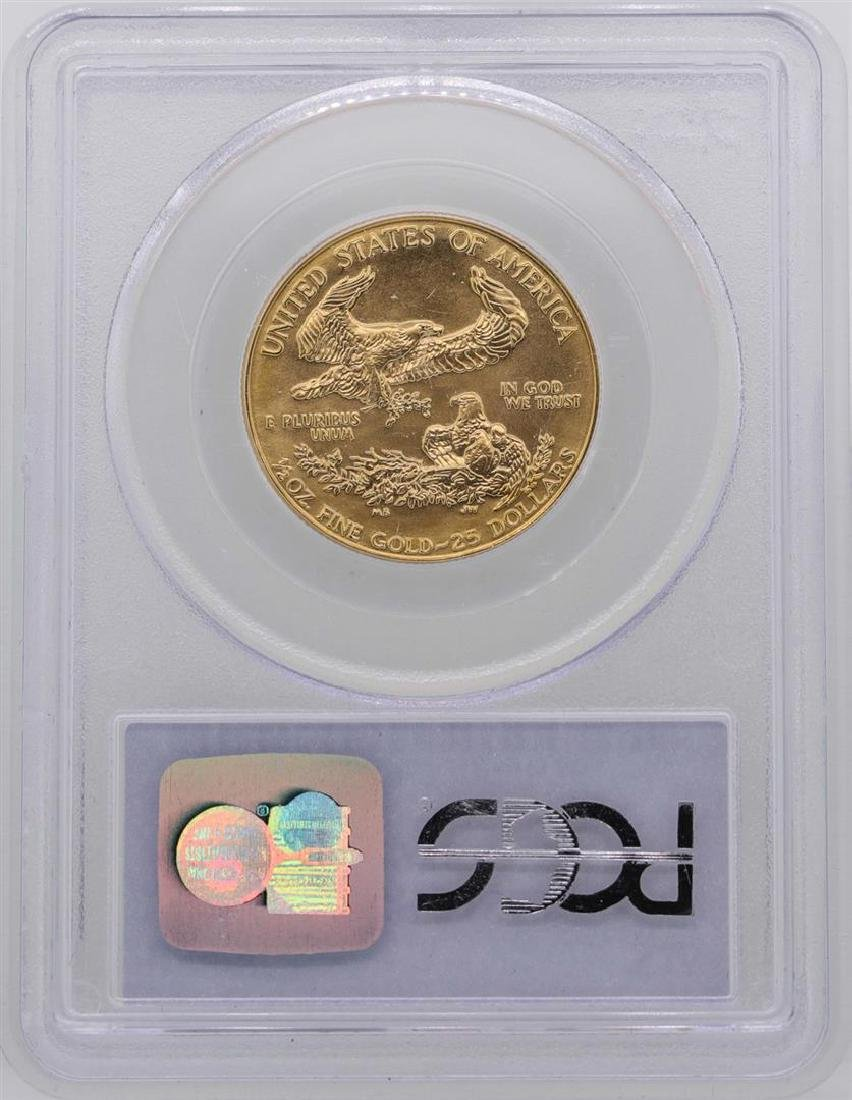 1986 $25 American Gold Eagle Coin PCGS MS69 - 2