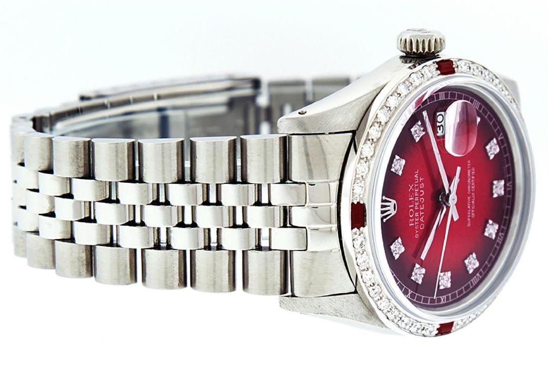 Rolex Men's Stainless Steel Red Vignette Diamond & Ruby - 2