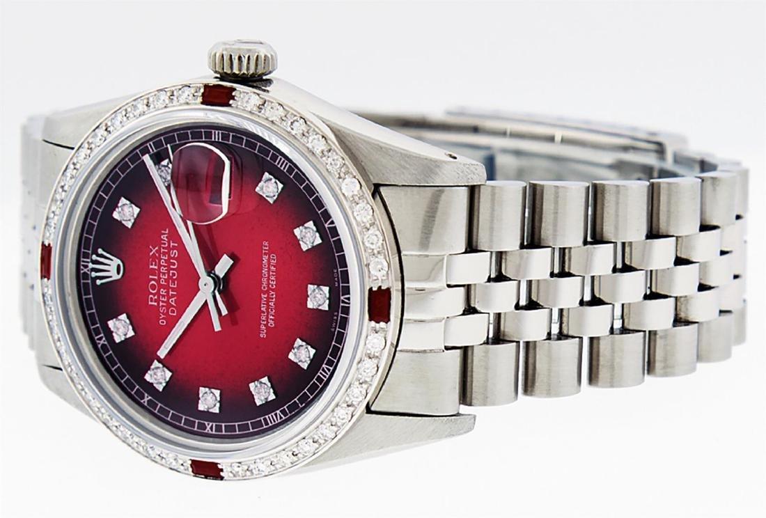 Rolex Men's Stainless Steel Red Vignette Diamond & Ruby - 3