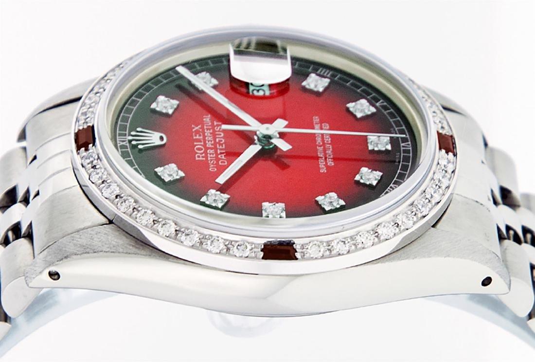 Rolex Men's Stainless Steel Red Vignette Diamond & Ruby - 5
