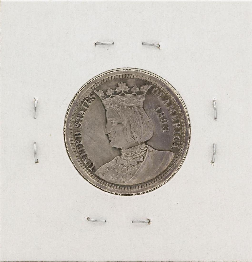 1893 Isabella Columbian Commemorative Quarter Dollar - 2