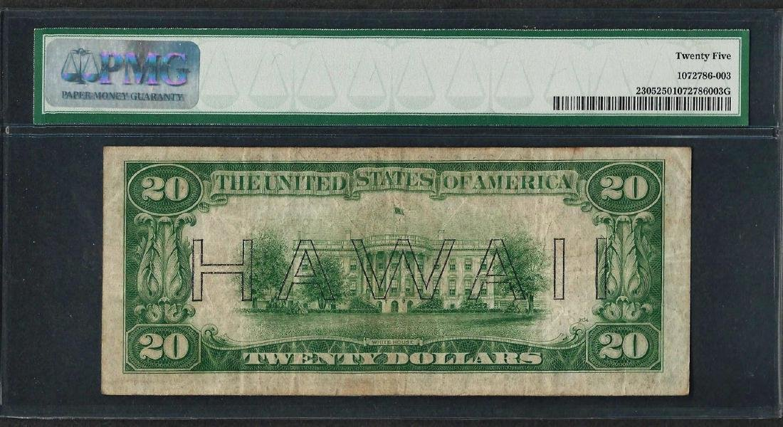 1934A $20 Hawaii Federal Reserve WWII Emergency Note - 2