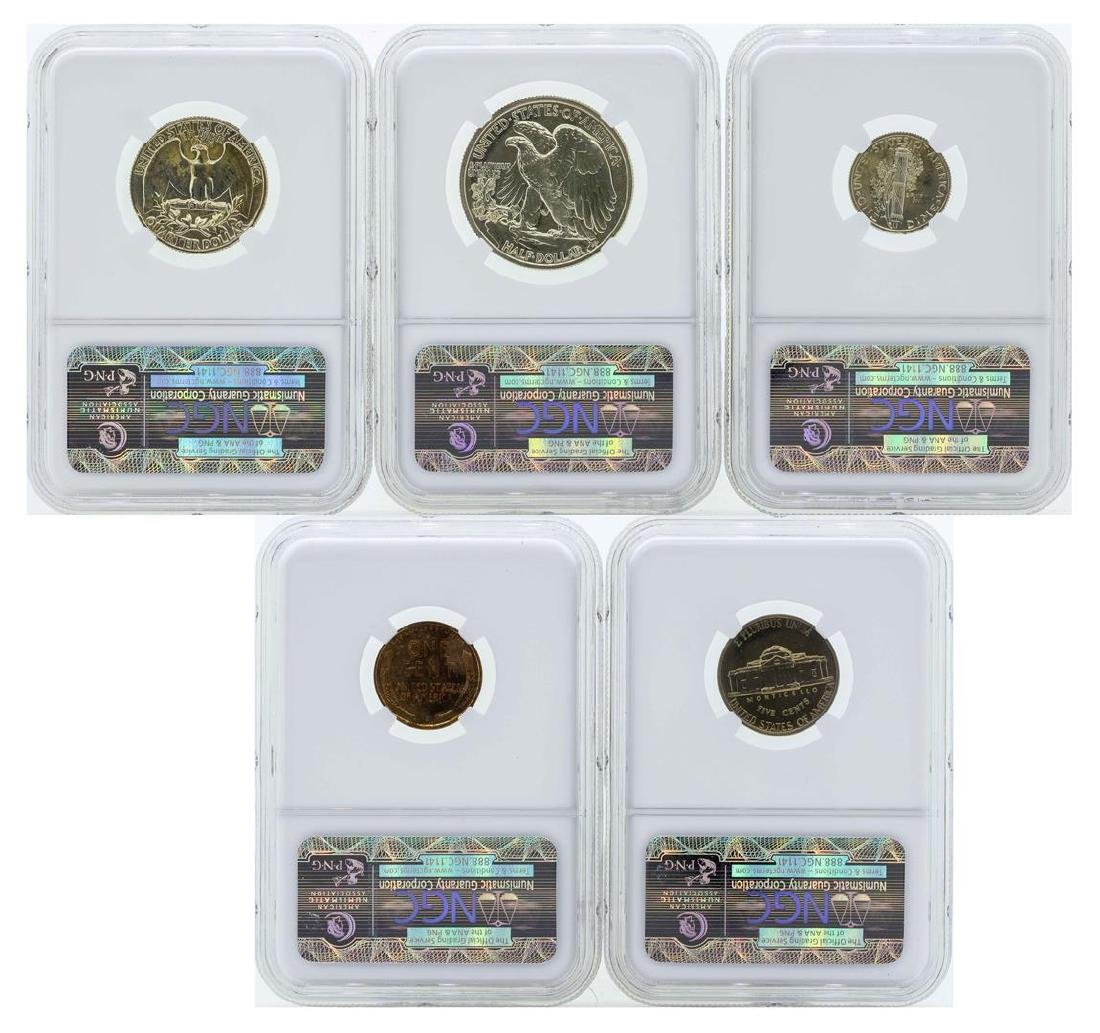 1939 (5) Coin Proof Set NGC Graded - 2