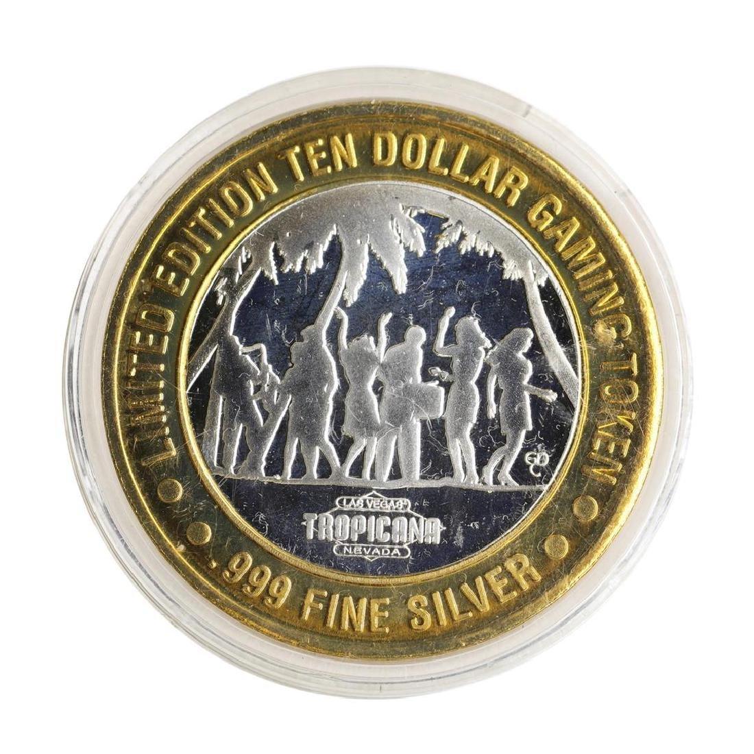 .999 Silver Tropicana Las Vegas, Nevada $10 Casino - 2