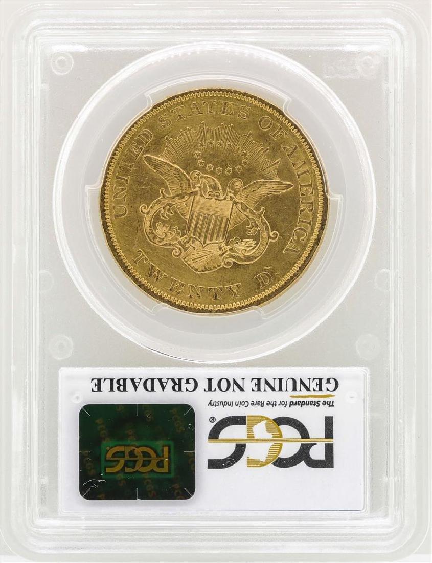 1852 $20 Liberty Head Double Eagle Gold Coin PCGS AU - 2