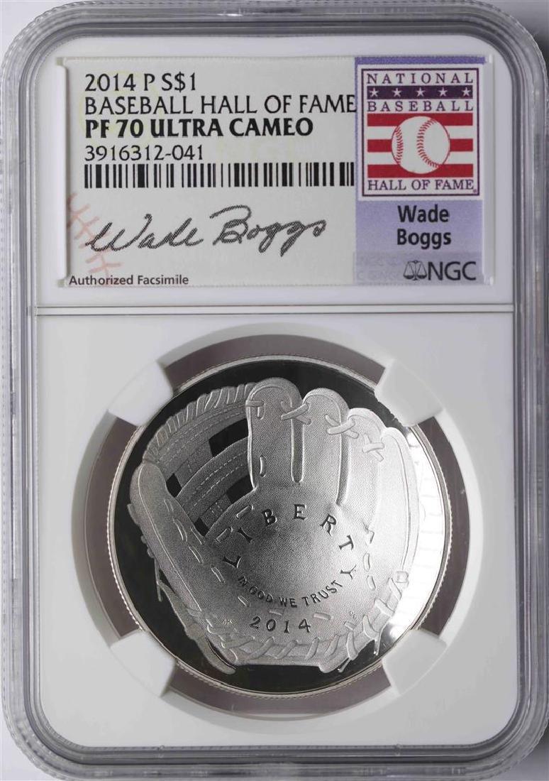 2014-P $1 Baseball Hall of Fame Coin NGC PF70 Ultra