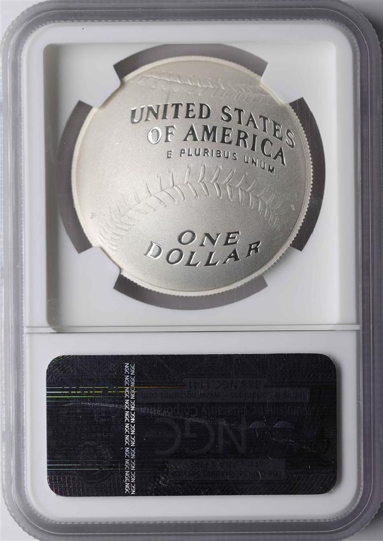 2014-P $1 Baseball Hall of Fame Coin NGC PF70 Ultra - 2